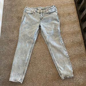 Old Navy Rockstar Acid Wash Jeans 14 short